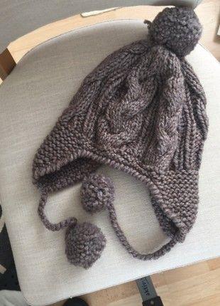 Kaufe meinen Artikel bei #Kleiderkreisel http://www.kleiderkreisel.de/accessoires/warme-mutzen/157856934-braune-mutze-mit-bommel-von-seeberger