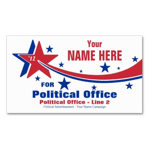 Non partisan political election campaign business card for Campaign literature templates
