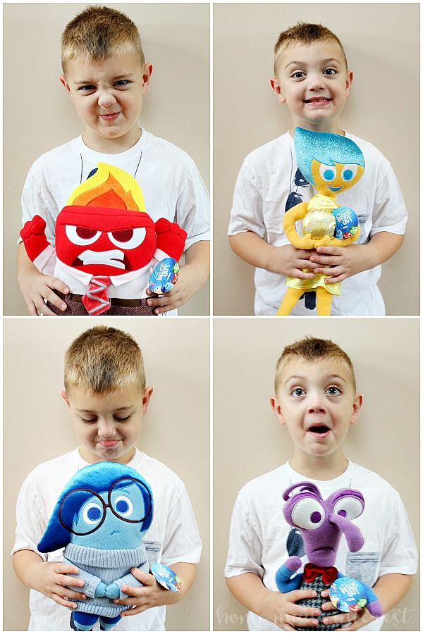 Playing around with the new Inside Out Plush toys!
