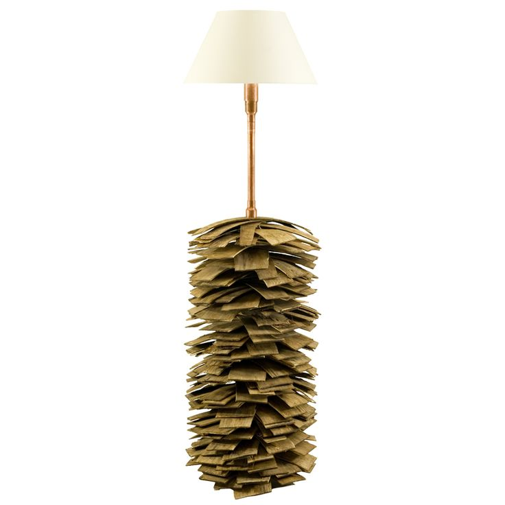 Shingle & copper floor lamp