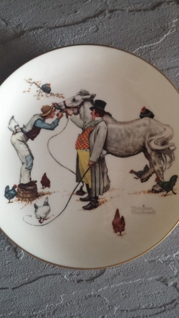 Norman Rockwell collector plate 1979 The Horse Trader