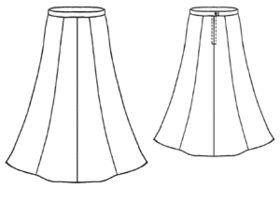 free pattern: Home / Women / Skirts / #5028 Long skirt