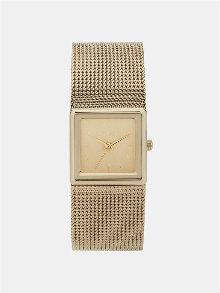 DKNY Stonewall 25Mm Mesh Gold-Tone Stainless Steel Watch. #dkny #