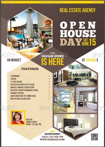 Agent Open House Flyer Real Estate Flyer Template Real