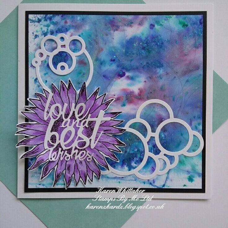 Kind Thoughts dies and Sending You stamp set by Stamps By Me  #stampsbyme #dtsample #kindthoughtsdie #sendingyou #flowers #pixiepowders #kuretakezig #stamps #cardmaking #cards #craft #creative #artshapes #circles #creativity #karenzkardz