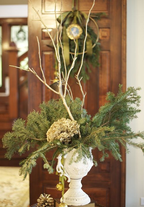 Simple yet elegant winter centerpiece love the white