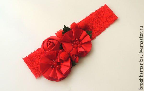 Купить Детские повязки с цветами - разноцветный, детская повязка, повязка на голову, повязка для волос