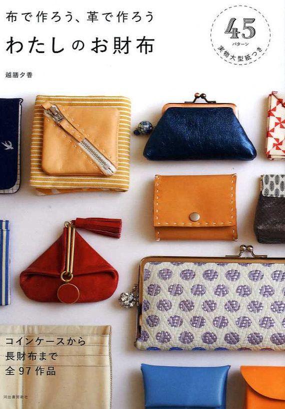 Stoffe und Leder handgefertigte Geldbörsen Buch  von pomadour24