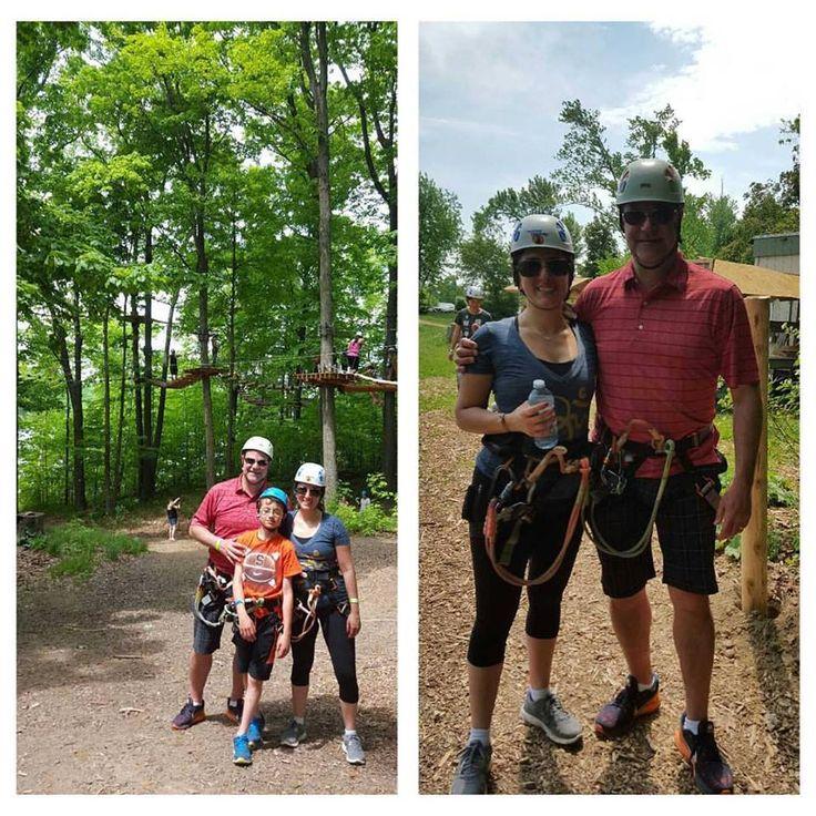 Tree Top Trekking and Zip Lining   in Brampton. What a blast!