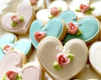 Flor de novia y novios de boda favorecen de por MarinoldCakes