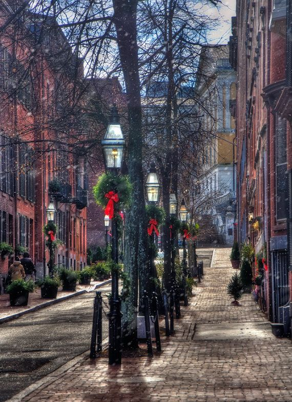 Prints starting at $40 & always FREE US Shipping.  Boston Photography, Beacon Hill Art, Acorn Street, Colonial Decor, Boston Prints, Urban Art, New England Art, Boston Gifts, Boston Wall Art