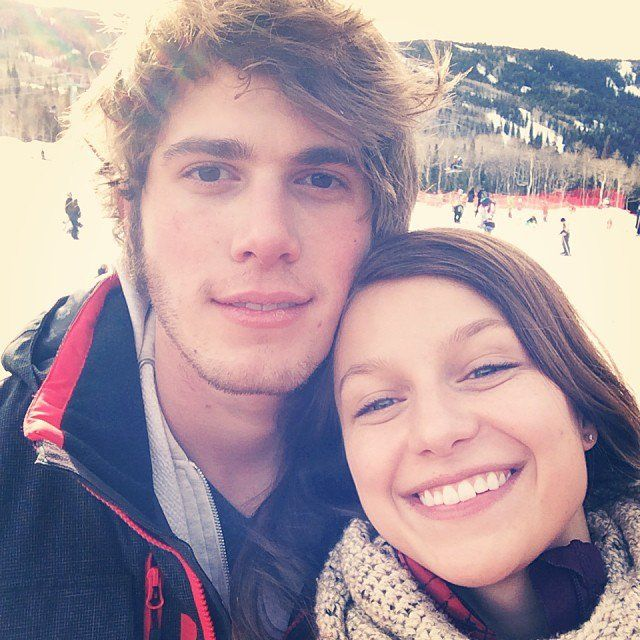 Pin for Later: Cute Pictures of Blake Jenner and Supergirl Melissa Benoist That'll Make You Go Aww!