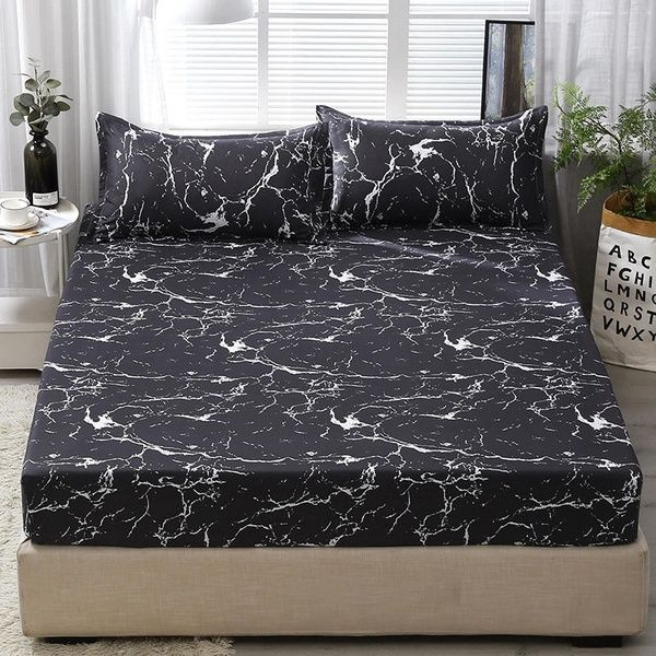 New Soft Bed Fitted Sheet And 2 Pillowcases Queen King Sizes