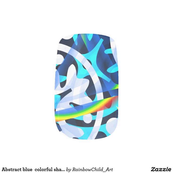 Minx Nail Wraps .Abstract blue  colorful shapes cute. Style: Minx Nails Extend fashion to your fingertips with Minx Nails! Worn by fashion-forward celebrities, these salon quality nail coverings add instant glamour to your outfit. Minx nails can be easily applied in-home or at your local Minx salon. #nail #wraps #blue #abstract