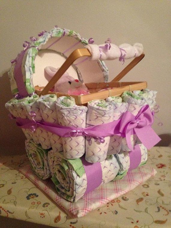 Diaper Carriage - Unique Baby Shower Gift