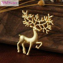 Oz мечта матовый золотая брошь знак ретро искусство лося рождественские подарки для женщин(China (Mainland))