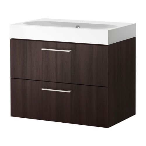 godmorgon br viken sink cabinet with 2 drawers white stained oak white stained oak effect. Black Bedroom Furniture Sets. Home Design Ideas