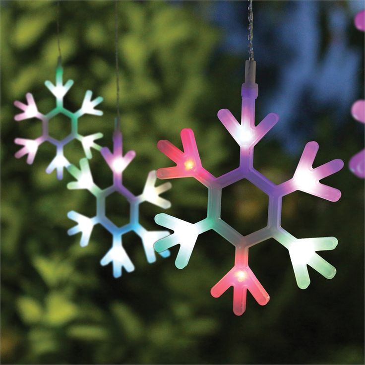 Lytworx Colour Changing LED Snowflake Lights - 6 Pack