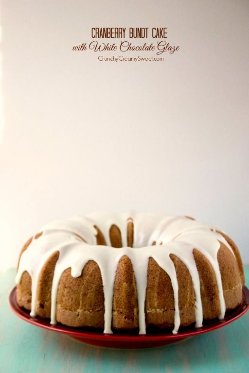 Cranberry Bundt Cake with White Chocolate Glaze