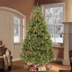 7.5 ft. Pre-Lit Colorado Spruce Artificial Christmas Tree with 800 Clear Lights, Greens