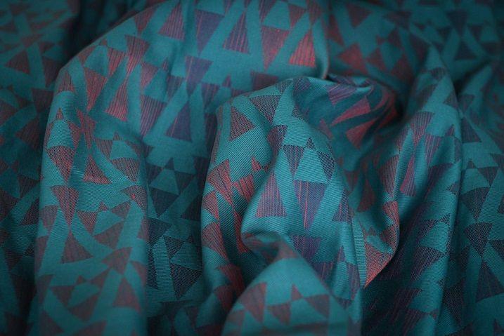 Chusta tkana Yaro, Delta Teal Corail Violet Linen, dł. 4,6m -  Chusty, nosidełka do noszenia dzieci, pieluszki wielorazowe