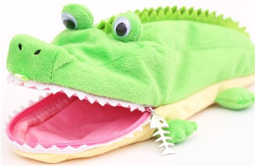funny crocodile plush pencil case from Japan