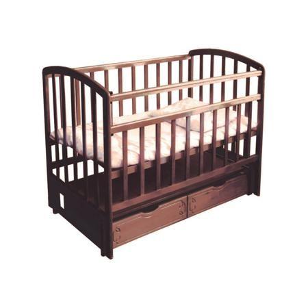 """Фея Кровать детская  — 7235р. ---------------------------------- Детская кроватка ФЕЯ ( цвет """"палисандр"""") сочетает в себе безопасность для малыша и удобство для родителей. Конструкция кроватки выполнена таким образом, чтобы обезопасить от случайного выпадения даже подросшего ребенка. Для вашего удобства передняя стенка легко опускается. Полезная особенность модели детской кроватки ФЕЯ – наличие маятникового механизма продольного качания. При необходимости можно отсоединить механизм качания и…"""