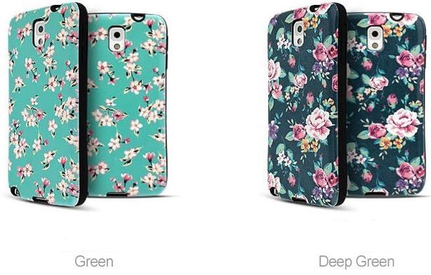 FLORAL IP FLOWER BUMPER GIRLY CASE FOR GALAXY NOTE 2