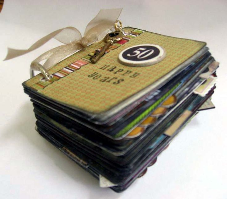 Photo book made from deck of cards ... so creative!