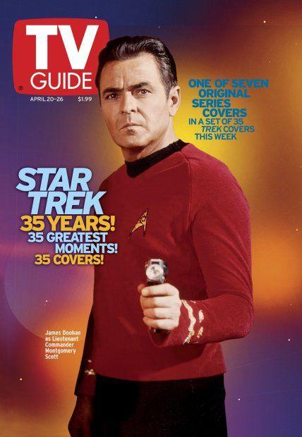 TV Guide April 20, 2002 (5 of 7) - James Doohan of Star Trek