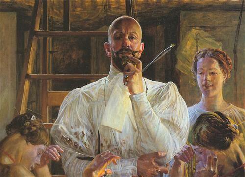 Farewell to Atelier - Jacek MALCZEWSKI (1854 - 1929)