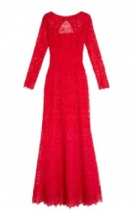 Issa red lace maxi dress
