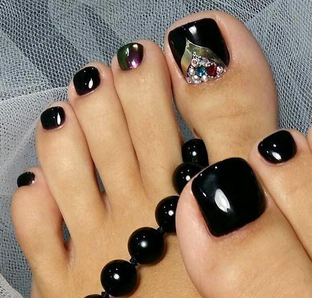 Best 25+ Black Toe Nails Ideas On Pinterest