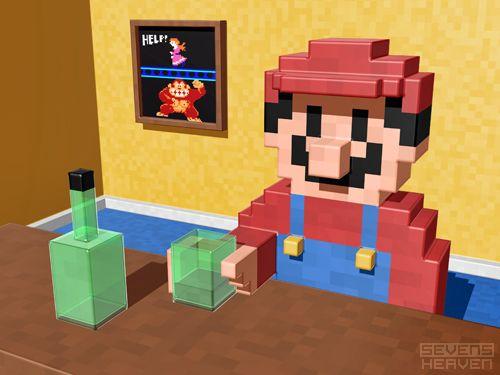 Mario: Game Over by Metin Seven: Design Illustrations, Inside Videos, At Home, Barrels, Videos Games, Mariobros, Super Mario Bros, 3D Pixel, Pixel Art