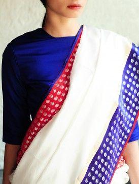 Mehjabeen White Silk Saree By Raw Mango Pinned by Sujayita
