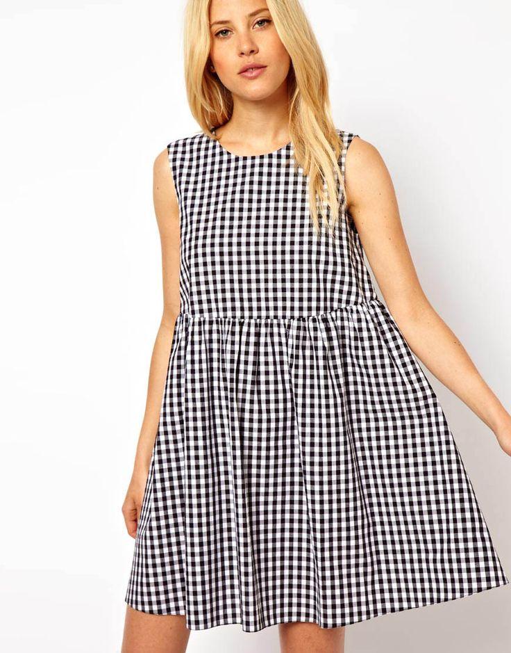smock gingham dress