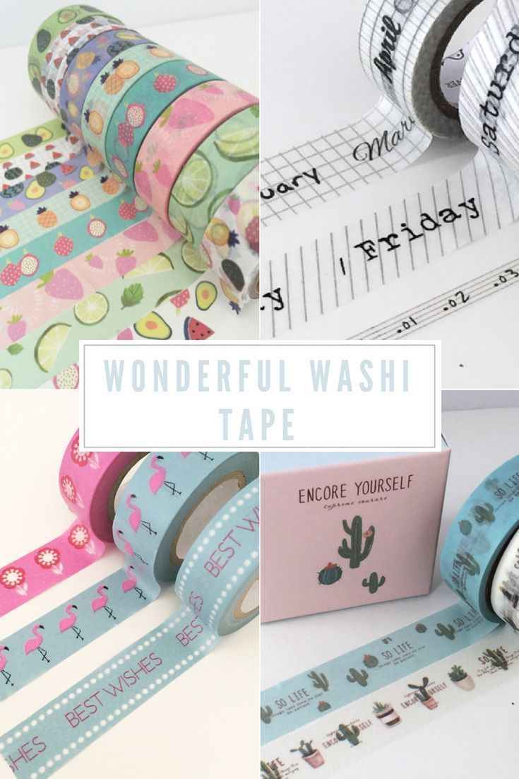 Washi tape products are one of the