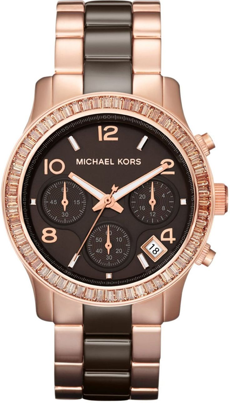 Women's watches: Shop to buy Michael Kors Runway Chronograph Rose Gold-Tone Ladies Watch MK5678