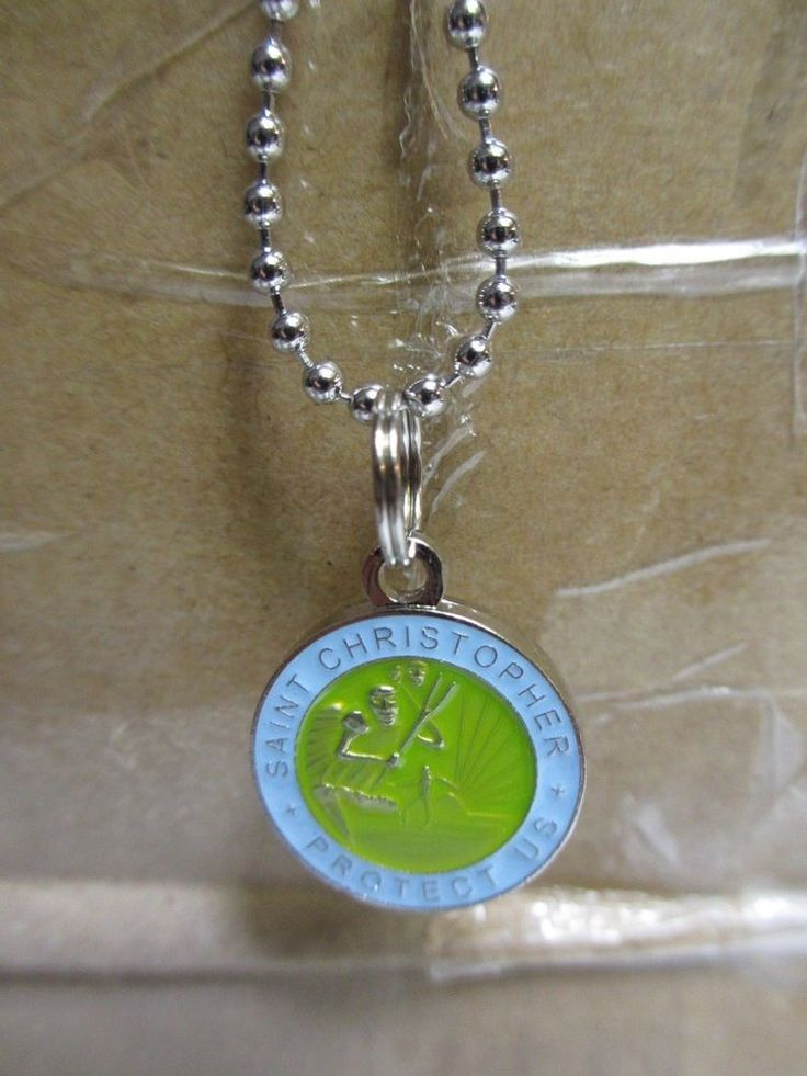 Saint St Christopher Medal PROTECT US surf surfing surfer blue green shallows #theshallows #blakelively #saintchristopher #surfer #Pendant