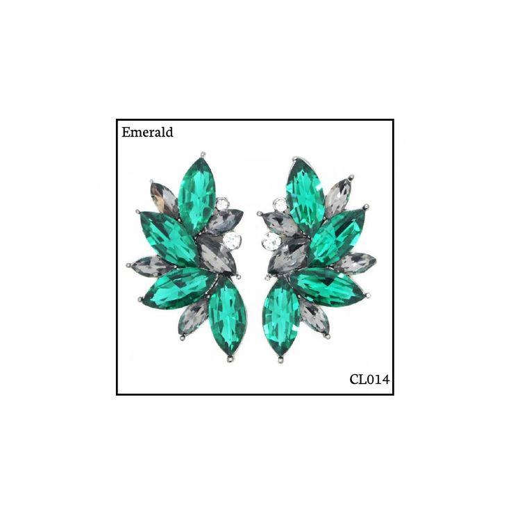 Ref: CL014 Emerald . Medidas: 4 cm x 2.5 cm . So Oh: 9.99 . Disponível para entrega imediata! Boas compras! #sooh_store #onlinestore #brincos #earrings #fashion