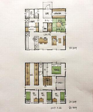『40坪の間取り』 ・ どちらかといういつものパターン。 キッチンからパントリー、洗面所への動線。 土間収納。 リビングと一体化する和室。 2階にはファミリークローゼット。 ・ ありがとうございます。 ・ #間取り#間取り集 #間取り図 #間取り力 #間取り相談 #間取り考え中 #間取り図大好き #間取り図好き #マイホーム計画 #マイホーム計画三重 #マイホーム計画開始 #三重の家 #三重の建築家 #三重の住宅 #三重の間取り #三重の設計事務所#住まいの設計#土間収納のある間取り #パントリーのある間取り #ファミリーウォークインクローゼットのある間取り #40坪の間取り#設計事務所で家を建てよう