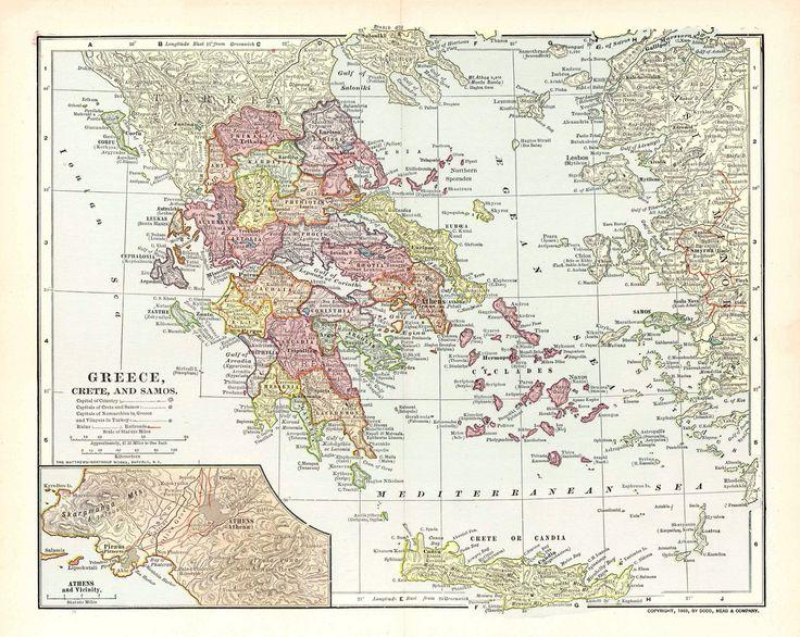 Map of Greece, Crete and Samos_1903
