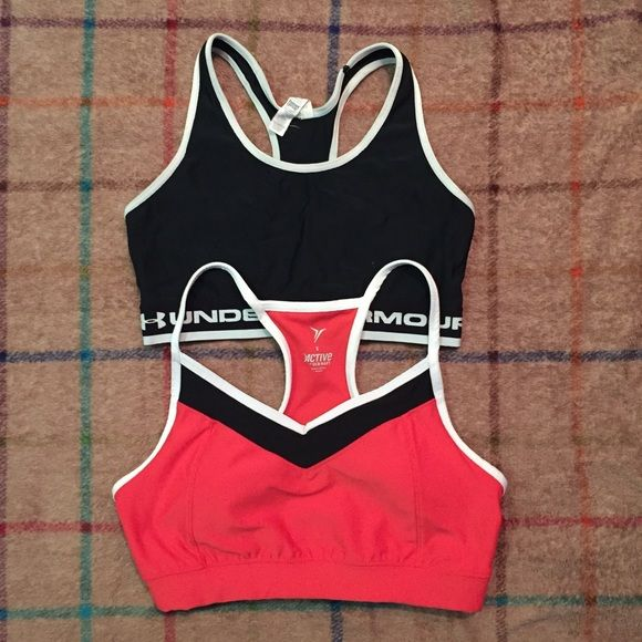 2-4-1 // Under Armour °° Old Navy \\ Sports Bras 2-4-1 Deal!! Both bras have light to average wear. Stretch elastic is not worn down. Under Armour Intimates & Sleepwear Bras
