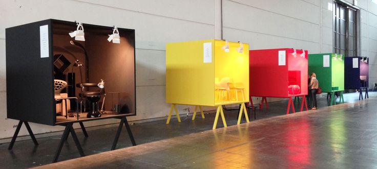 Colored boxes @ Abitare il Tempo