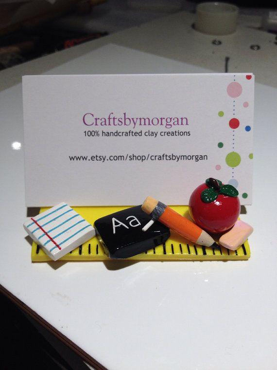 Business Card Holder School Supplies Teacher by craftsbymorgan, $25.00