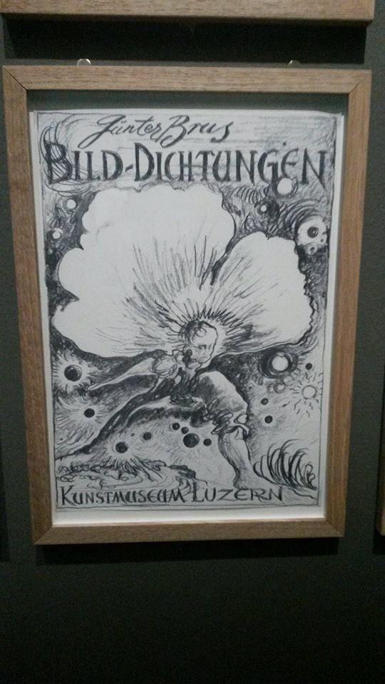 Günter Brus - GEBEUGTERg AKT MIT GIESSKANNE - 1972