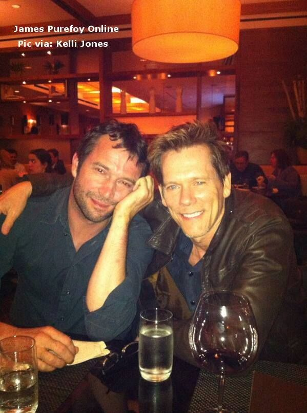 James Purefoy & Kevin Bacon The Following. I love a man with a little scruff on his face.