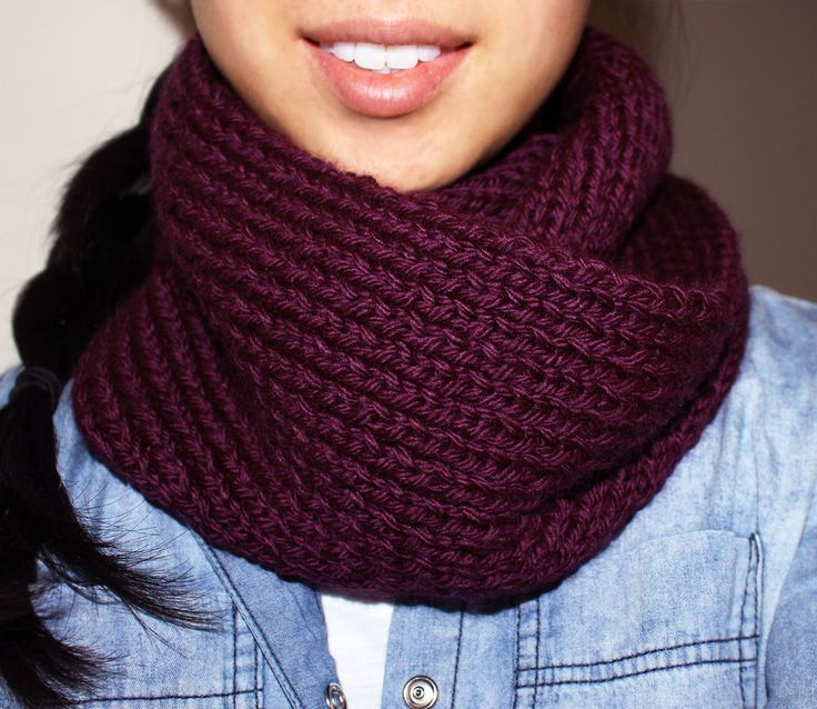 Purllin: Acai Infinity Circle Scarf [free knitting pattern] Knitting Patter...