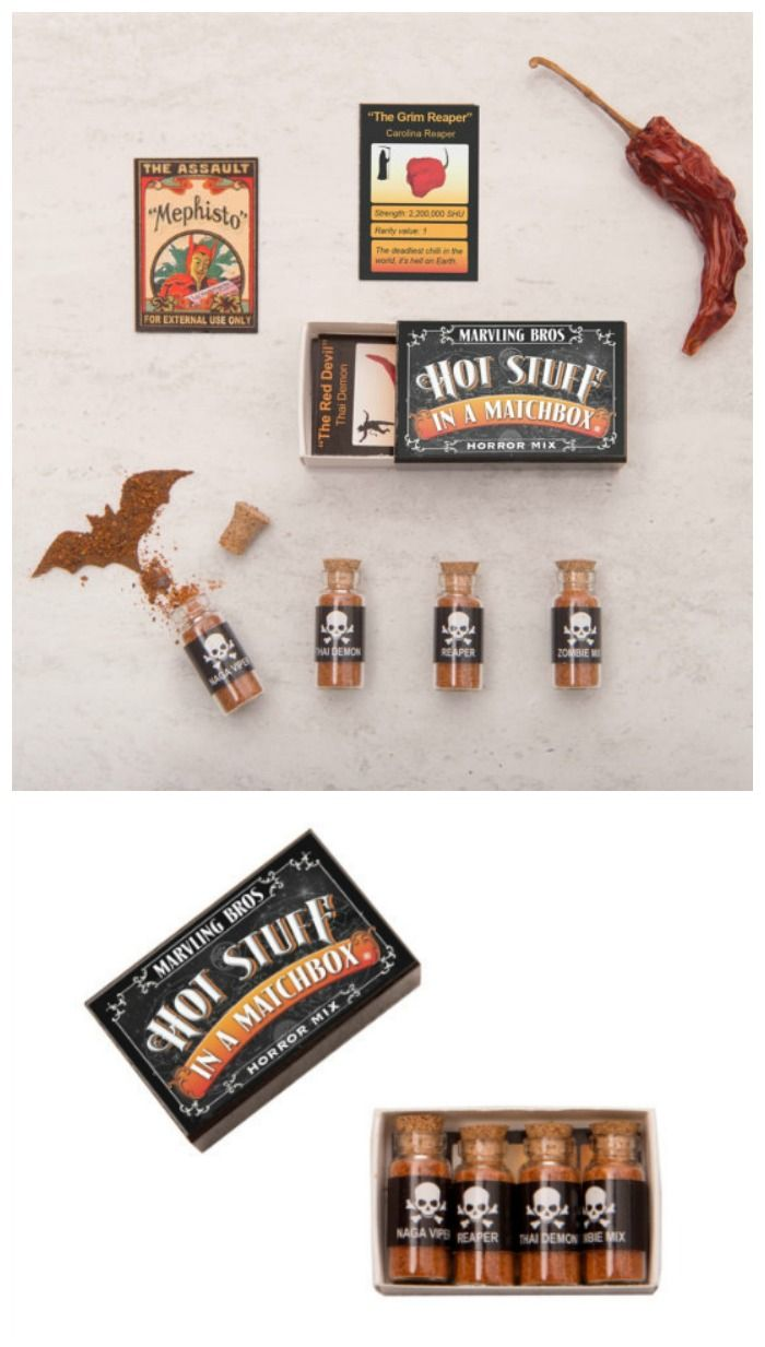 Horror Mix World's Hottest Chilli Powders In A Matchbox. Perfect gift for those who like it hot!