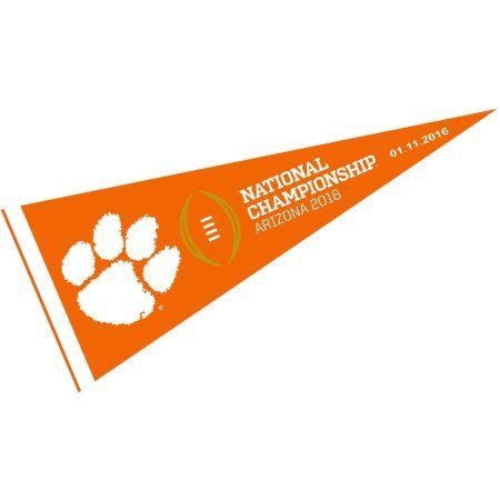 "Clemson Tigers 2016 National Championship 12"" X 30"" Felt College Pennant"